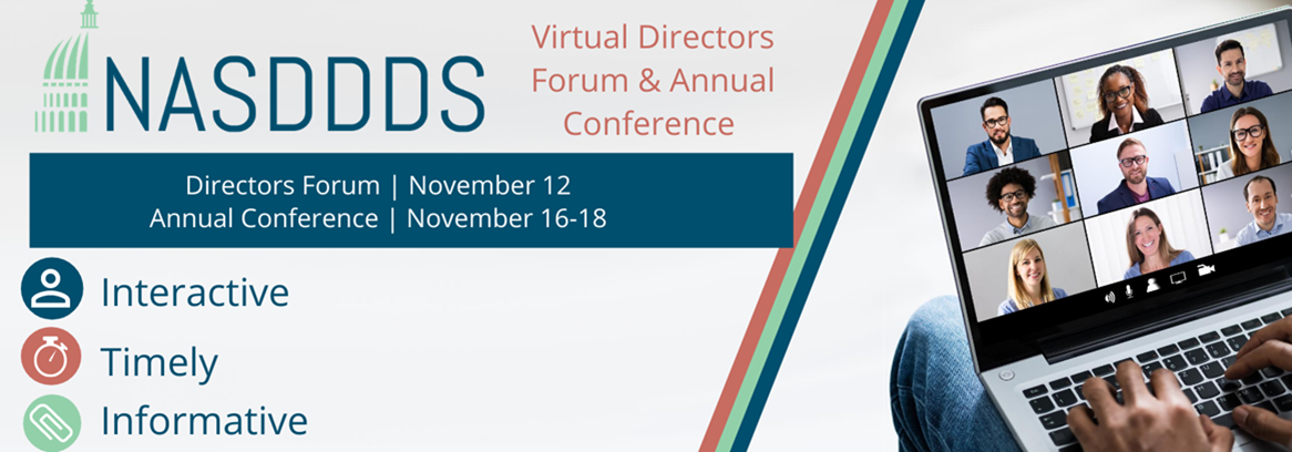 NASDDDS Virtual Directors Forum & Annual Conference event banner